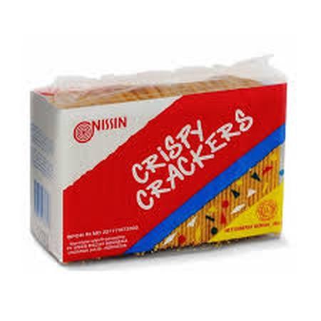 Nissin Crispy Crackers 225Gr Pack Nissin Crispy Crackers 225Gr PackBiskuit Yang Terbuat Dari Tepung Terigu Dan Keju Asli. Diproses Dengan Dipanggang, Bukan Digoreng Sehingga Lebih Nikmat. Ideal Dinikmati Saat Santai Bersama Keluarga, Kerabat Dan Teman-