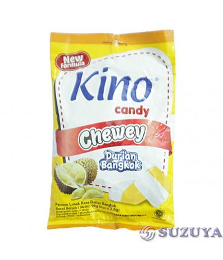 Kino Candy Chewy merupakan permen lunak dengan rasa buah, tersedia dalam 2 varian rasa buah durian bangkok dan mangga arumanis. Dengan rasa buah yang manis, serta dengan tekstur permen yang lembut menciptakan rasa permen yang sangat enak dan disukai semua