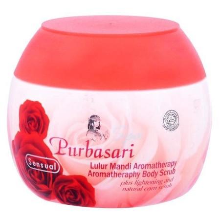 Purbasari Lulur Mandi merupakan scrub tubuh yang scrubnya dapat mengangkat sel kulit mati dan kotoran pada kulit . Diperkaya dengan moisturizer yang dapat menjaga kelembapan kulit.