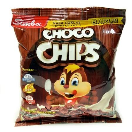 Simba Choco Chips Coklat Bag [55 G] Merupakan Sereal Sekaligus Snack Dengan Rasa Coklat Yang Sangat Lezat Berbentuk Kerang (Shell). Berat Bersih: 55Gr