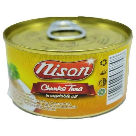 Tuna Nison Chunk minyak sayur 90gr. Tuna suwir dengan tambahan minyak sayur. Rasanya yang enak dan juga mengandung sumber asam omega-3.