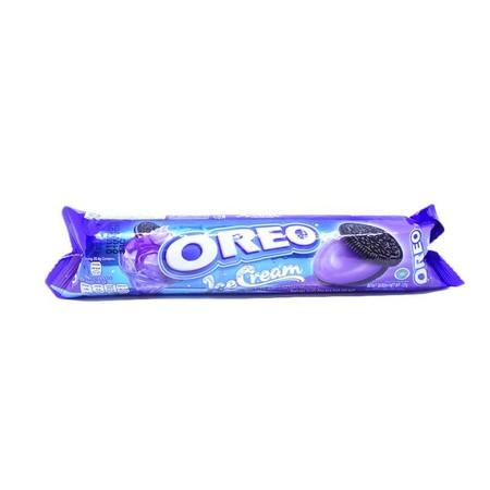 Kraft Oreo Ice Cream Blueberry 137Gr Kraft Oreo Ice Cream Blueberry 137GrMerupakan Biskuit Sandwich Yang Terdiri Dari Dua Biskuit Oreo Cokelat Dengan Krim Tebal Yang Lezat Di Tengahnya. Krim Blueberry Yang Tebal Dan Lezat Dengan Sensasi Dingin Es Krim