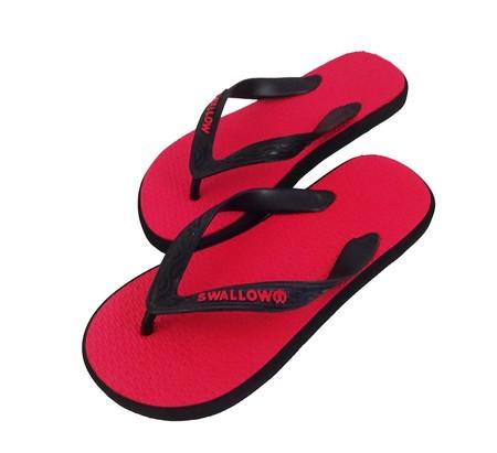 Slipper Swallow adalah Alas kaki berbahan karet yang lentur dan nyaman untuk keperluan sehari hari dengan warna Merah menarik,size 10