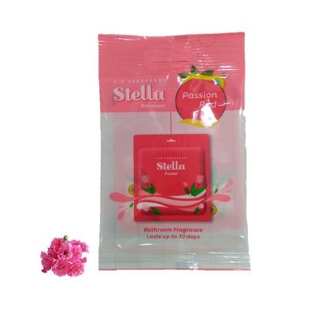 Pengharum Kamar Mandi Dengan Teknologi Gel Anti Bocor Dan Wangi Menyegarkan. Stella Pocket Bathroom Red Mengharumkan Kamar Mandi Hingga 30 Hari.