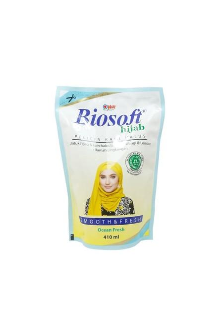 Biosoft Hijab Pelicin Kain Halus Dirancang Khusus Untuk Membantu Anda Mengatasi Proses Penyetrikaan Agar Lebih Mudah Dan Hemat Waktu. Kandungan Pewangi Di Dalamnya Membuat Hijab Anda Menjadi Harum Dan Segar. Anda Dan Keluarga Pun Siap Jalani Aktivitas Den