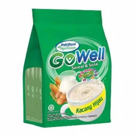 Gowell Rasa Kacang Hijau 29 Gram X 5S Gowell, Minuman Serbuk Sereal Dan Susu Yang Lezat Dan Praktis, Yang Terbuat Dari Bahan Berkualitas, Sehingga Aman Dikonsumsi. Produk Ini Diproduksi Oleh Indofood Nutrition Sebagai Sarapan Praktis Bagi Keluarga. Cukup