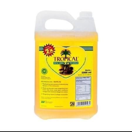 Tropical Minyak Goreng Jerigen [5000 mL] adalah minyak goreng dengan 2 kali proses penyaringan sehingga kualitasnya lebih sempurna. Megandung asam lemak tak jenuh yang dapat membantu menurunkan kolesterol darah. Selain itu, juga dilengkapi Vitamin E sebag