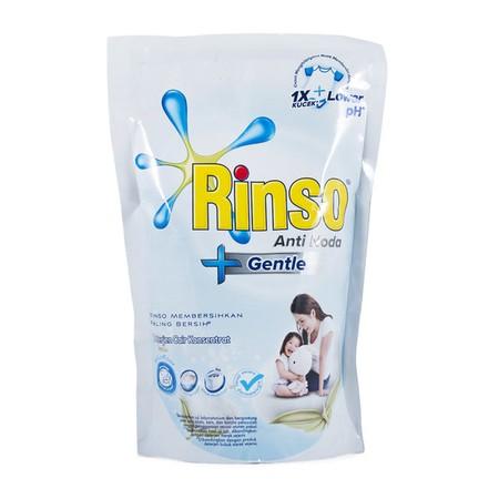 Rinso Gentle Deterjen yang diformulasikan secara khusus cocok untuk kulit sensitif bahkan kulit bayi. Didesign dengan formulasi pH yang lebih rendah^ dan sudah teruji secara dermatologis. Rinso Gentle membersihkan sama bersihnya dengan produk Rinso lainny