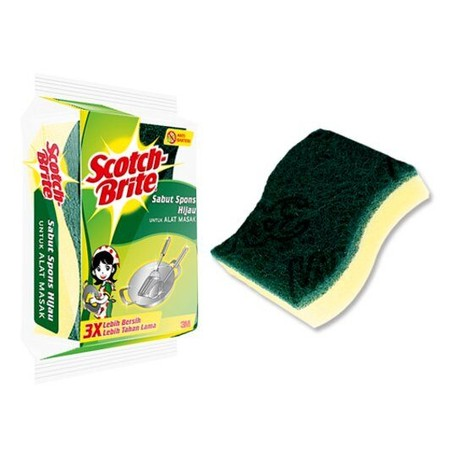 Sabut spons untuk membersihkan peralatan memasak dan makan