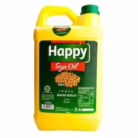 Happy Soya Oil [5 L] merupakan minyak kedelai yang diformulasi bebas kolesterol sehingga membantu Anda menghasilkan hidangan yang sehat bagi keluarga sekaligus membantu menjaga kadar kolesterol dan kesehatan jantung. Dibuat menggunakan kedelai pilihan ber