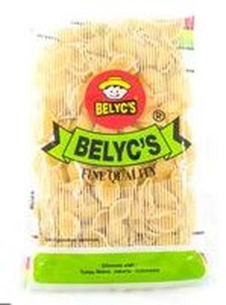 Shell Shaped Macaroni Pasta. Pasta yang terbuat dari bahan gandum pilihan berwarna kuning alami dan memiliki tekstur yang tidak mudah hancur. Cocok dimasak dengan paduan saus tomat, saus krim kental, maupun jenis saus pasta lainnya.