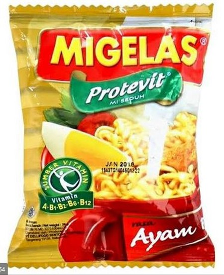 Mi Gelas made of natural ingredients and free of artificial MSG, food coloring and preservatives and containing Protevit.