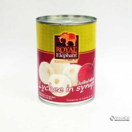 Buah leci dalam larutan sirup merk Royal elephant