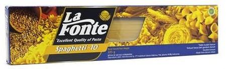 LA FONTE Lang Macaroni Pasta [225 g] adalah pasta yang terbuat dari bahan gandum durum pilihan, sehingga menghasilkan tekstur yang tidak mudah hancur. Cocok untuk menemani saat santai Anda bersama keluarga atau kerabat.