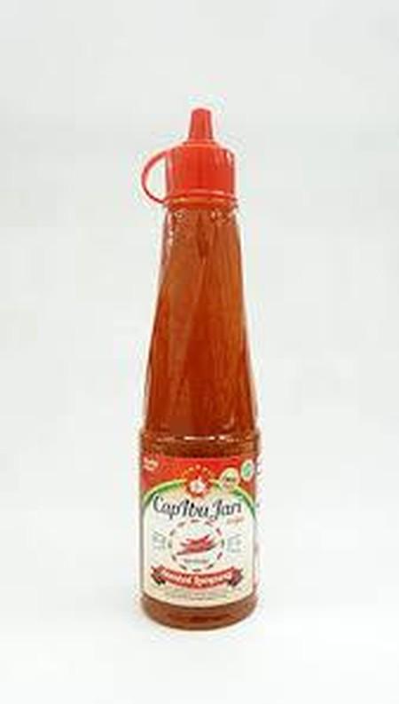 Merupakan produk terbaru dari Sambel Cap Jempol. Sambel Lampung Cap Jempol ini sangat cocok digunakan untuk aneka gorengan, dimsum, pasta dan lainnya. Tingkat kepedasan dari sambel lampung ini tidak terlalu pedas. Cocok untuk pecinta sambel yang tidak bis