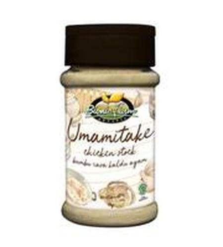 Umamitake Penyedap Rasa dari Bionic Farm terbuat dari Jamur Shitake Organic, Lada, Garam, Bawang Putih dan Bumbu yang diproses secara natural. Umamitake digunakan sebagai pengganti MSG kimia dan dapat digunakan untuk semua jenis masakan.