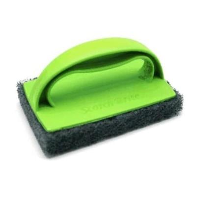 3M sikat lantai tanpa gagang - Gagang (ergonomis, kuat, dan tahan lama) - Perekat Kuat (gagang tidak mudah terlepas dari scrub pad) - Scrub Pad (efektif hingga ke sela sela lantai) - Bersih Maksimal (berdaya gosok kuat)