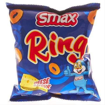 SMAX RING chiken 50GR merupakan cemilan enak dengan citra rasa ayam