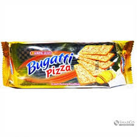 KHONG GUAN Biscuit - Bugatti Pizza Krekers kentang rasa pizza Praktis dibawa dan dikonsumsi kapan dan di mana saja KHONG GUAN Biscuit - Bugatti Pizza Terbuat dari bahan berkualitas Sangat lezat & cocok dinikmati kapanpun Tersedia dalam kemasan isi 375 gr
