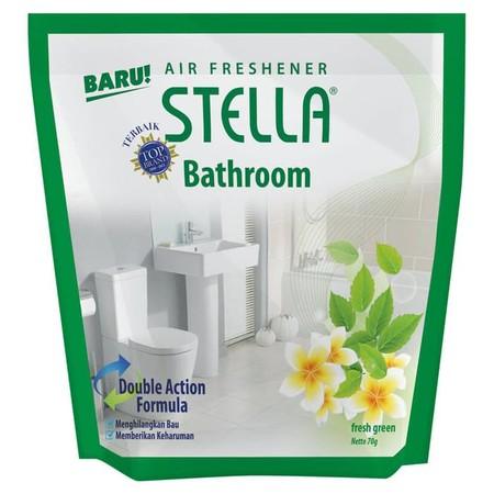 Stella Bathroom Fresh Green Pengharum Ruangan Merupakan Pengharum Ruangan Yang Mudah Ditempatkan Dimana Saja Dan Kapan Saja Sesuai Kebutuhan Anda. Dengan Wewangian Yang Lembut Akan Menciptakan Suasana Yang Menyenangkan. Stella Ini Membuat Udara Pada Ruang