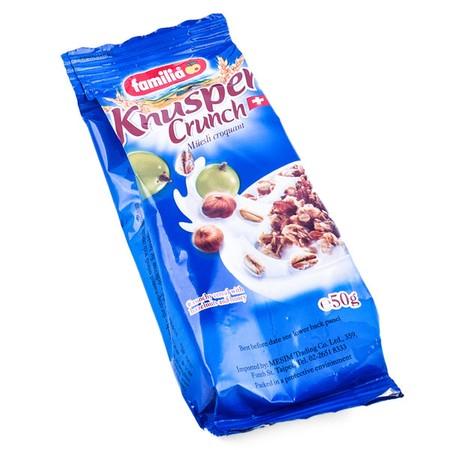Familia Knusper Crunch 500 G Hadir Untuk Menjadi Salah Satu Sumber Tenaga Untuk Menjalankan Berbagai Aktifitas. Chrunchy Cereal Dengan Hazelnut & Honey (Swiss) Ini Terbuat Dari Bahan-Bahan Pilihan, Sehingga Memiliki Citarasa Yang Nikmat Dan Lezat. Komposi