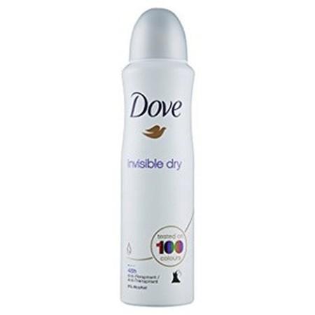 Dove Invisible Dry Memberikan Perlindungan 48 Jam Dan Mengandung 1/4 Moisturising Cream Unik Dove Untuk Ketiak Yang Lebih Halus Dan Lembut. Teruji Pada 100 Warna, Membantu Melindungi Pakaian Dari Noda Putih Atau Kuning.