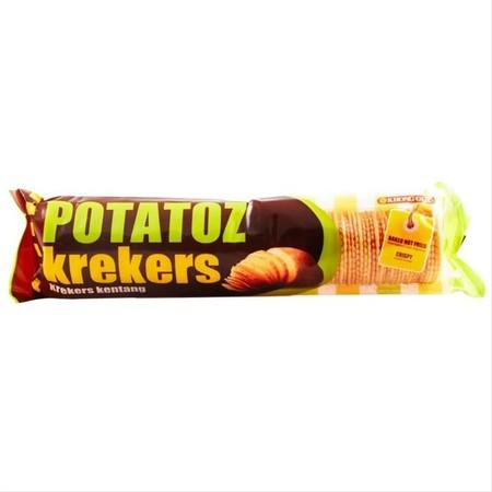 Potatoz Crakers Merupakan Biskuit Rasa Kentang Yang Renyah. Cocok Untuk Dinikmatin Bersama Keluarga