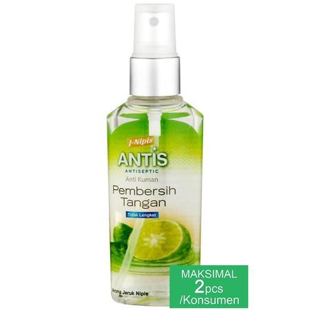 Antis Spray Adalah Produk Hand Sanitizer (Pembersih Tangan Anti Kuman Tanpa Air) Berbasis Alkohol Yang Efektif Membunuh Kuman Dengan Cepat, Seperti Kuman Flu Dan Diare, Dan Juga Praktis Untuk Digunakan Dimana Saja Dan Kapan Saja.  Detail : -Praktis -Tidak