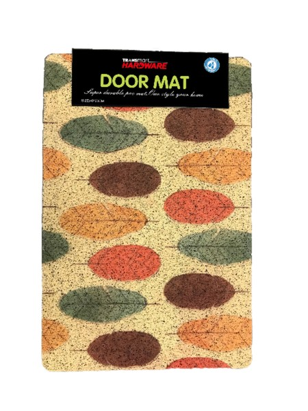 Mesh mat with attractive design printing. Made from: PVC + PVC firm. Size 40x60 cm. Motif as seen on picture. Suitable for indoor and outdoor use to complete family room, bedroom, or living room. Easy to clean and does not keep dirt and dust.