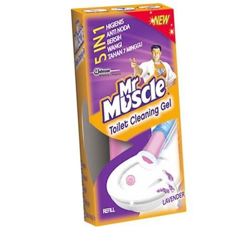 Mr. Muscle Toilet Cleaning Gel Lavender Reguler 36 Ml, Adalah Pembersih Toilet Yang Secara Efektif Dapat Membersihkan Noda Pada Kloset, Membasmi Kuman & Bau Pada Toilet, Mengandung Bahan Bermutu Tinggi, Serta Membersihkan Kerak Membandel.