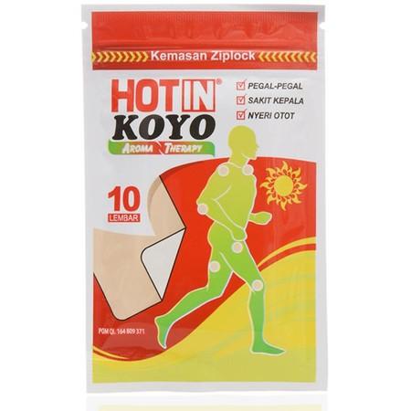 HOTIN KOYO AROMATHERAPY 10S inovasi terbaru dari PT. Ultra Sakti yaitu produk Koyo yang tepat digunakan untuk mengatasi pegal dan nyeri otot yang menggangu aktivitas. Penggunaan produk ini sangat mudah dengan cara ditempelkan pada tempat yang dibutuhkan.