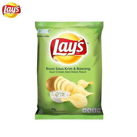 Sour And Tasty With Worldwide Brand Potato Chips. Fry With Rice Bran Oil For Nutrition,Perfect For Snack In Freetime And With Your Friends. - Sour Cream And Onion Potato Chips - Crispy And Tasty - Produced From Organic Potatoes - Through Modern Process -