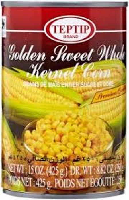 Jagung manis pipilan Golden Premium Sweet Corn Brine, kemasan kalengan dari bahan berkualitas yang bisa diolah menjadi masakan yang nikmat dan lezat.