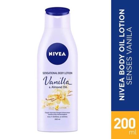 Nivea Sensational Body Vanilla & Almond Oil memiliki Jojoba Oil untuk melindungi permukaan kulit dan mencegahnya menjadi kering sehingga dapat menjaganya tetap lembab. Aroma Vanilla yang menenangkan dapat membuat tubuh menjadi lebih rileks.