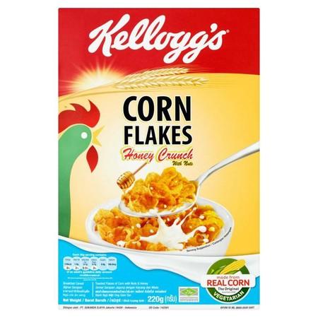 Kellogg'S Honey Crunch Cf Cereal 220 G Adalah Sereal Kacang Lezat Yang Dibuat Dengan Madu Dan Kacang, Didalamnya Terdapat 8 Nutrisi Penting (Vitamins A B1 B2 B3 B6 B9 C And Zat Besi) Dan Dikemas Dengan Karbohidrat Untuk Keperluan Anda Sehari-Hari. Sereal