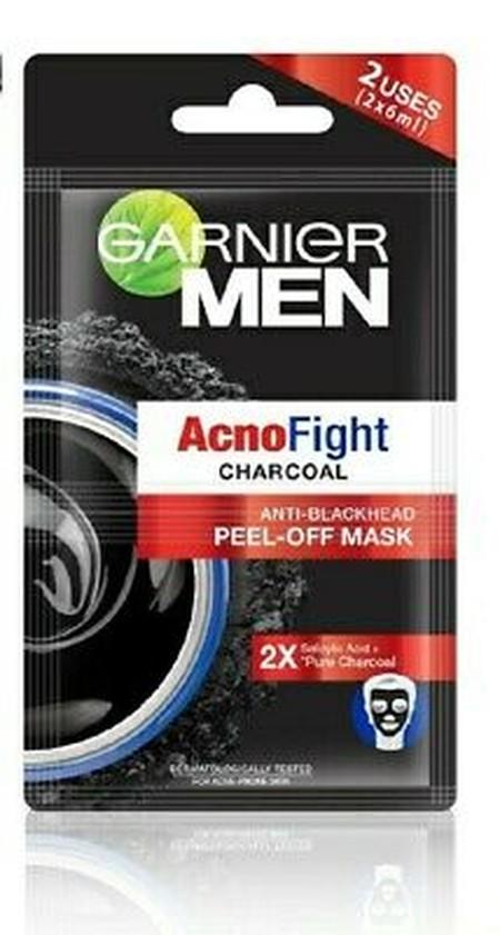 Masker peel off pertama dari Garnier Men untuk membantu mengangkat komedo/bintik hitam. Inovasi tekstur gel yang berubah menjadi lapisan tipis, mudah untuk dilepaskan. Dengan kandungan Salicylic Acid dan bahan natural charcoal, untuk mengangkat sel kulit
