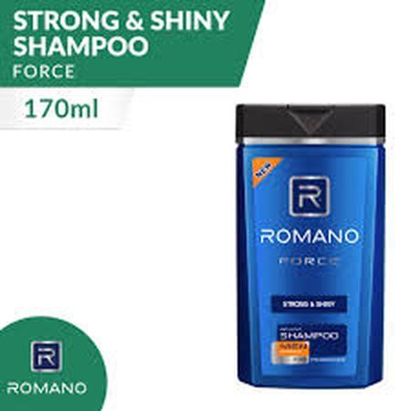 Diformulasikan Khusus Untuk Pria, Romano Force Strong & Shiny Shampoo Menjaga Rambut Sehatmu Tetap Kuat Dan Berkilau Dengan Parfum Maskulin Khas Romano Force. Formula Hair Vitamin-Nya Bantu Menutrisi Mulai Dari Pangkal Rambut. Kontrasnya Wangi Aromatik Ya