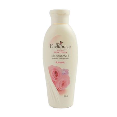 Berikan Kelembutan Pada Kulitmu Dengan Enchanteur Perfumed Body Lotion Charming. Dengan Kandungan Olive Butter Dan Aloe Vera Yang Membantu Memelihara Kelembapan Kulitmu Dan Membuatnya Tetap Terasa Halus Selembut Sutera. Dengan Keharuman Rose, Muguet, Dan