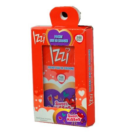 IZZI EDC Pocket Sweet Kisses [18 mL], IZZI Pocket Eau De Cologne dengan packaging mobile on the go yang simple dan praktis bikin Anda percaya diri dan wangi sepanjang hari. Ukurannya yang slim bisa masuk kantong baju atau celana, membuat kamu selalu Ready