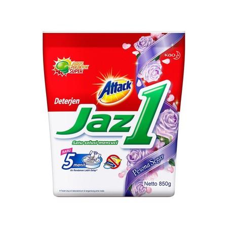 Jaz1 Detergen Semerbak Segar 1.7Kg Merupakan Varian Deterjen Dari Attack Yang Diformulasi Lebih Efektif Menghilangkan Noda Membandel Pada Serat Pakaian Tanpa Harus Menambahkan Sabun Colek Lagi. Dengan Teknologi Perontok Super, Jaz1 Detergen Bekerja Mengha