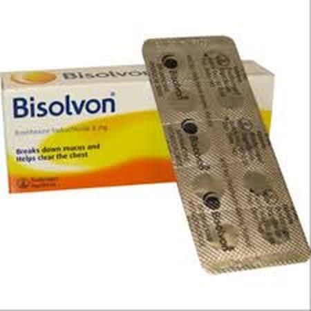 Bisolvon merupakan obat yang digunakan untuk mengurangi dan mengencerkan dahak pada saluran pernapasan. Bisolvon mengandung zat aktif Bromhexin HCl yang bekerja sebagai iritan pada saluran pernafasan di mana saat batuk, volume mukus ditingkatkan pada salu