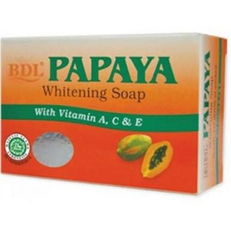 BDL Papaya Sabun [135 g/ Kotak] merupakan sabun dengan aroma lembut dan segar yang diperkaya vitamin & arbutin untuk memutihkan, melembutkan, dan membersihkan wajah. Cocok untuk semua jenis kulit serta kulit sensitif dan hypoallergenic. -Sabun -Melembabka