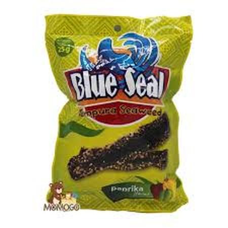 Blue Seal Tempura Seaweed Paprika Adalah Blue Seal Tempura Seaweed Paprika Keripik Rumput Laut Rasa Paprika.