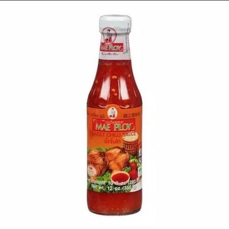 Mae Ploy Sweet Chilli Sauce adalah sambal manis pedas khas Thailand tanpa pengawet dan zat pewarna tambahan, cocok sebagai saus pelengkap setiap makanan