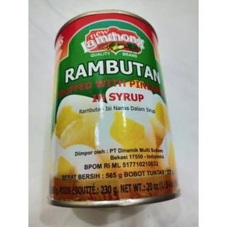 Lamthong Rambutan W/Pineapple 2Oz Can