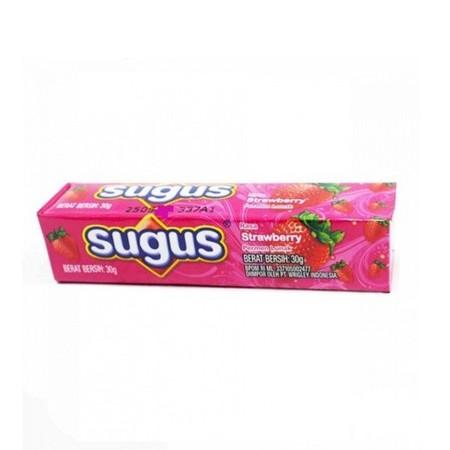 Permen kunyah yang lunak dengan rasa strawbery yang manis, memberikan sensasi mengunyah yang menyegarkan dan cocok untuk mengusir kebosanan.