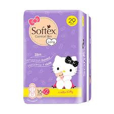Softex Comfort Slim 29 cm is a slim-type sanitary napkins with the ability to absorb 1 second for dry surface, hypoallergenic & less odor system. With a wider rear area, that will make your heavy flow period more comfortable.