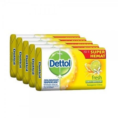 Dettol Barsoap Fresh Merupakan Sabun Mandi Dari Dettol. Sabun Mandi Ini Efektif Membunuh Kuman Dengan Formula Ph Dan Meremajakan Kulit Dengan Vitamin C Dan B3. Gunakan Dettol Untuk Mendapatkan Kulit Yang Sehat Berkilau.