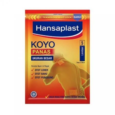 Hansaplast Koyo adalah Koyo modern bagi Anda yang aktif. Dikemas dengan teknologi Heat Lock yang menjaga agar sensasi hangat dan aromanya tetap prima setelah kemasan dibuka, sewarna dengan kulit, dan tidak meninggalkan bekas.