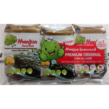 Manjun Seaweed Corn Oil 3X5Gr Manjun Seaweed Corn Oil 3X5GrMerupakan Makanan Instan Rumput Laut Dengan Rasa Yang Crispy & Super Tasty. Ideal Dikonsumsi Pada Saat Santai Bersama Sahabat Ataupun Keluarga.